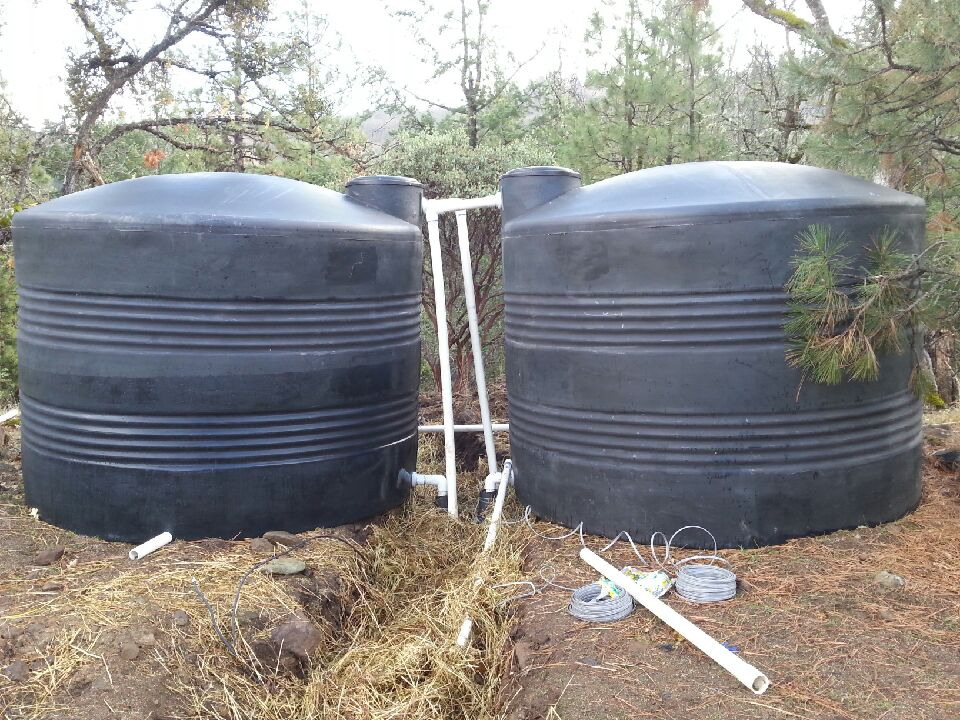 2 2500 gallon tanks