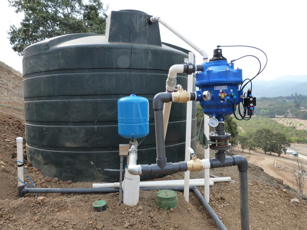 15,000 Gallon Irrigation system connected to filter from TID